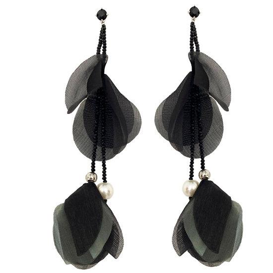 Flutter Earrings Black