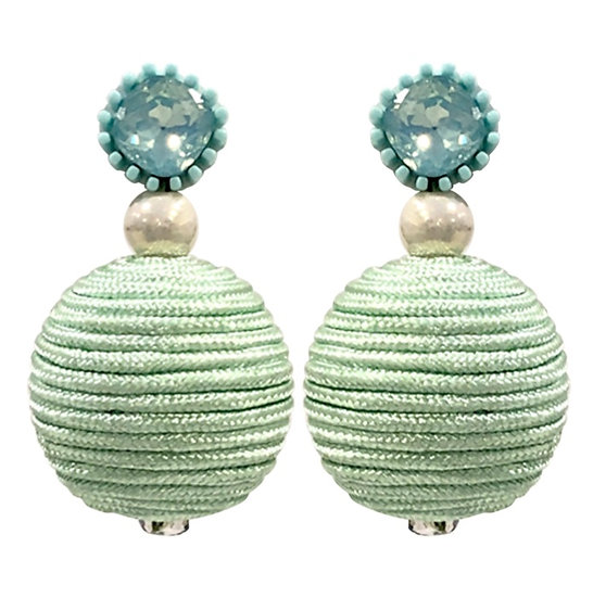Bobble Earrings Green