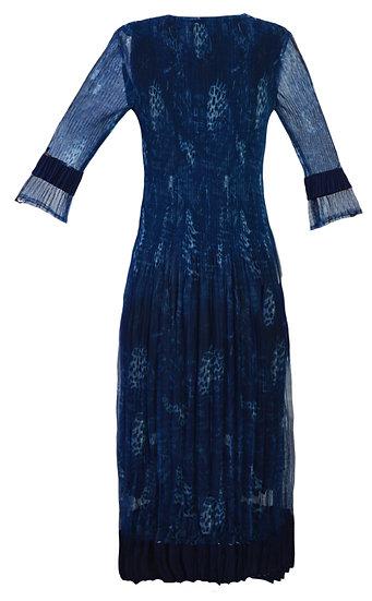 Smudge Dress Blue