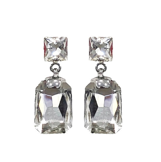 Cubism Earring Clear