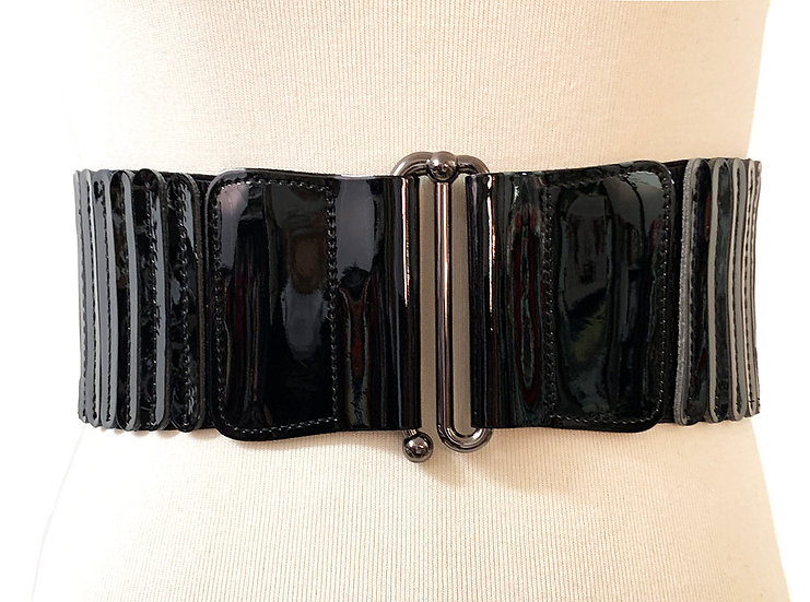 Patent Cinch Belt Black