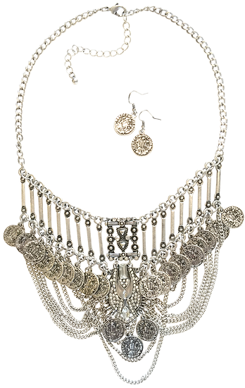 Chandelier Necklace Silver
