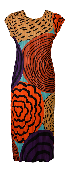 Circles Dress Orange