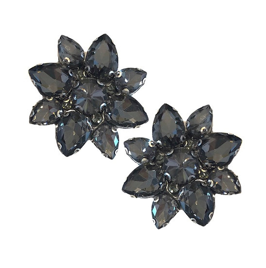 Jewel Shoe Clips Black