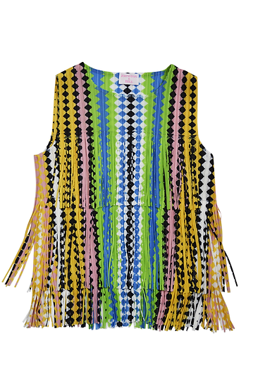 Zig Zag Top Yellow