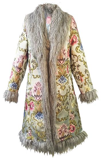 Blue Brocade Coat