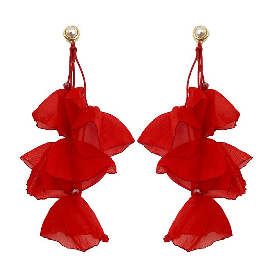 Delilah Earrings Red