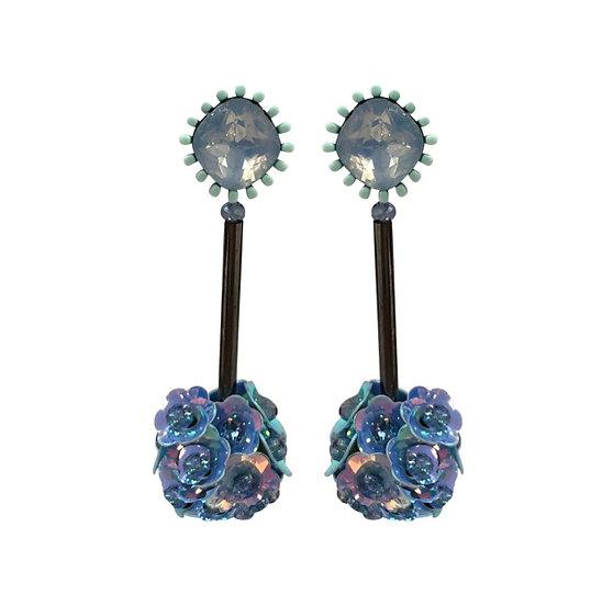 Venice Drop Earrings Blue