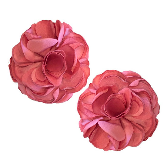 Flower Shoe Clips Coral