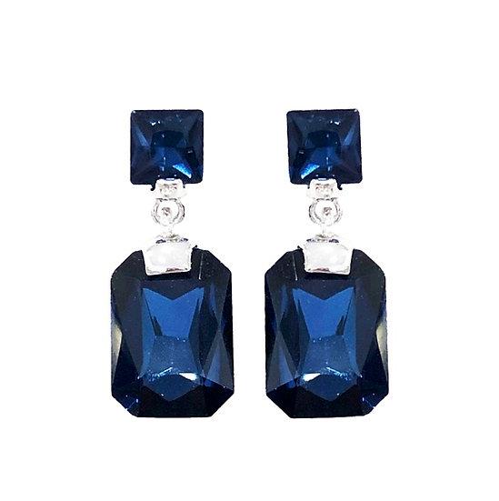 Cubism Earring Blue