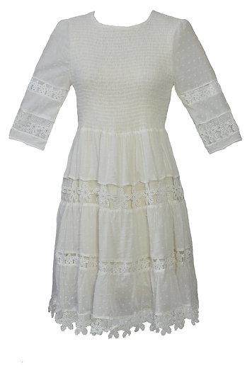Angelica Dress, Short, Three Quarter Sleeve