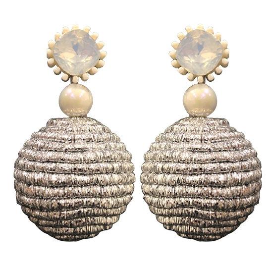 Bobble Earrings Silver