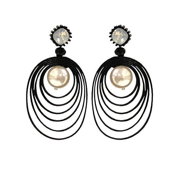 Cord Pearl Earrings