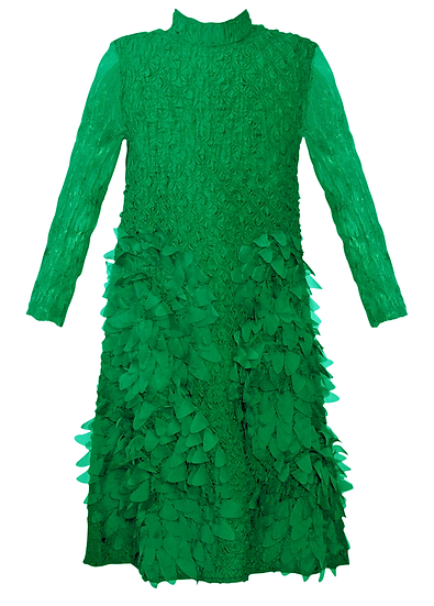 Feather Dress Emerald Green