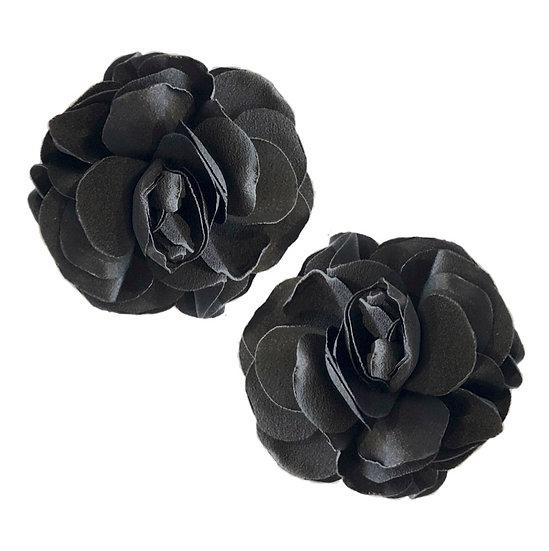 Flower Shoe Clips Black
