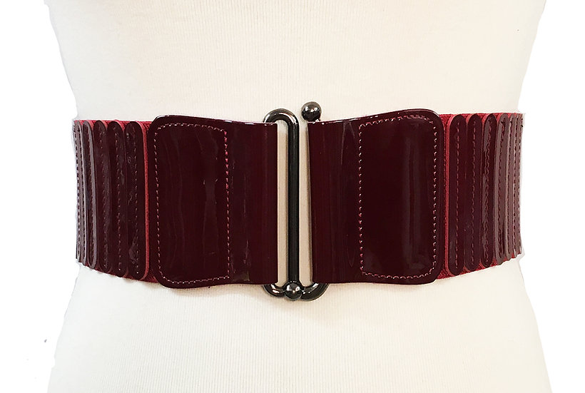 Patent Cinch Belt Burgundy