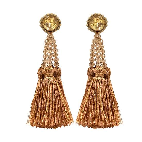 Multi Tassle  Earrings Gold