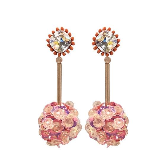 Venice Drop Earrings Pink