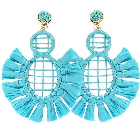 Carnival Earrings Aqua