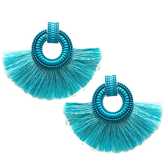 Fiesta Earrings Aqua