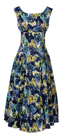 Diana Panel Dress Blue