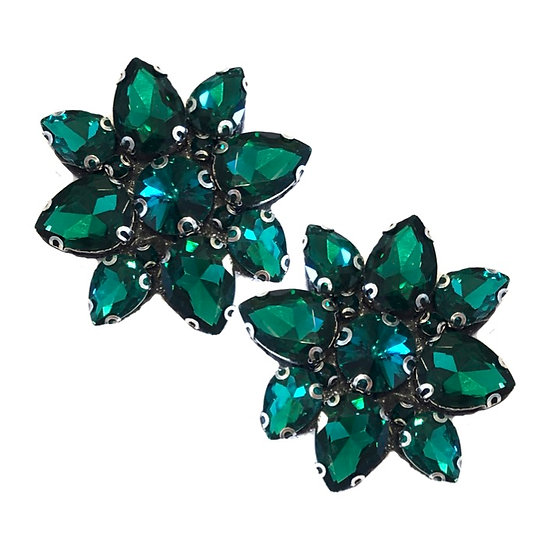 Jewel Shoe Clips Emerald