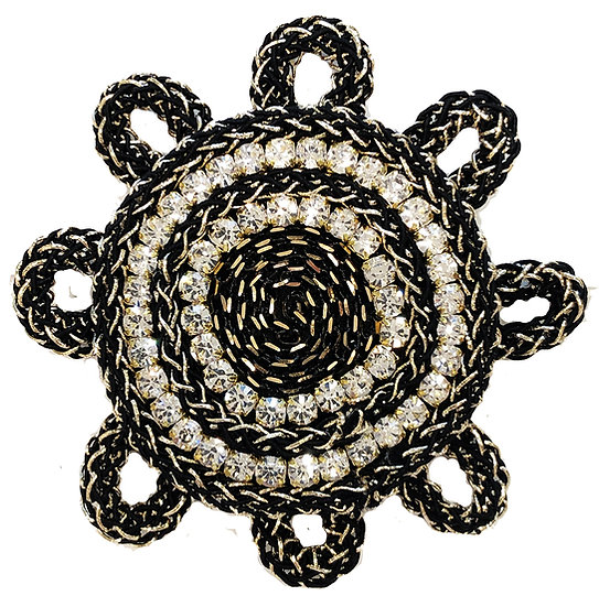 Cord Circle Brooch