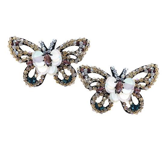Beaded Butterfly Shoe Clips