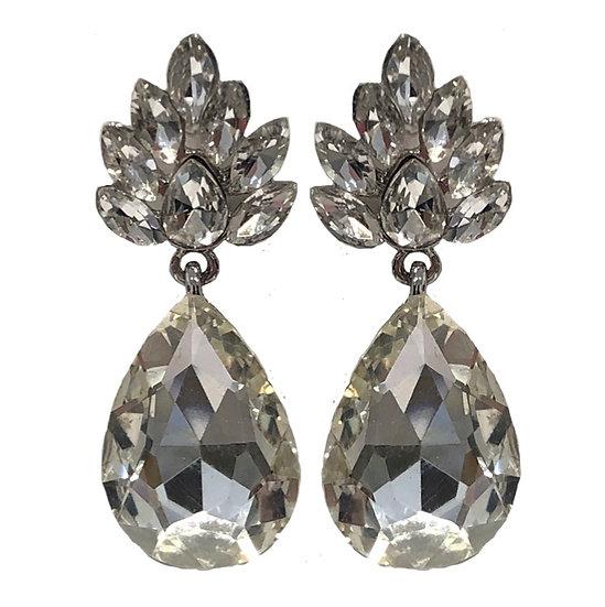 Champagne Earrings Crystal