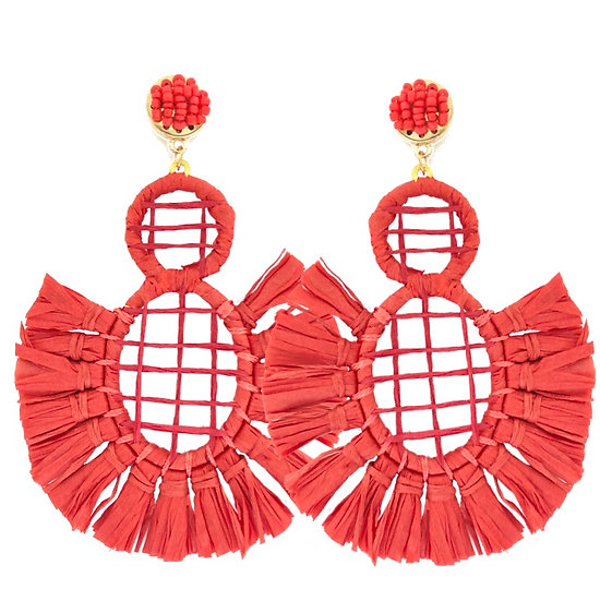 Carnival Earrings Red