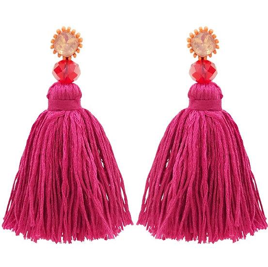 Woolly Pom Pom Earrings
