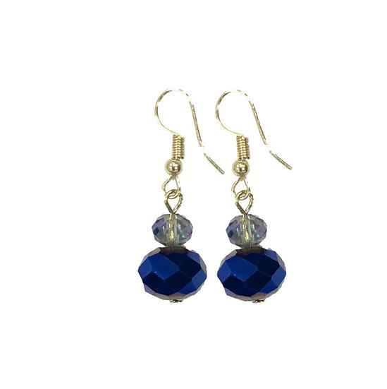Drop Stud Earrings Blue