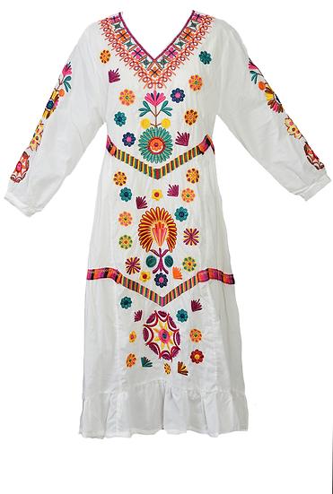 Margarita Dress, Midi, L/S