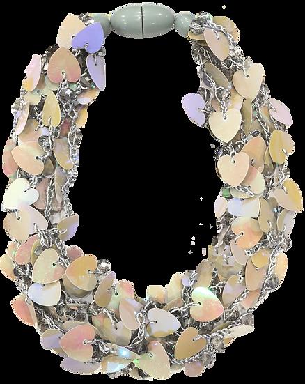 Hearts Necklace Mocha