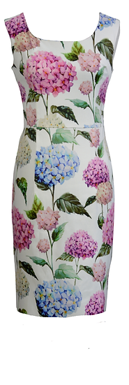 Hydrangea Fitted Dress Short