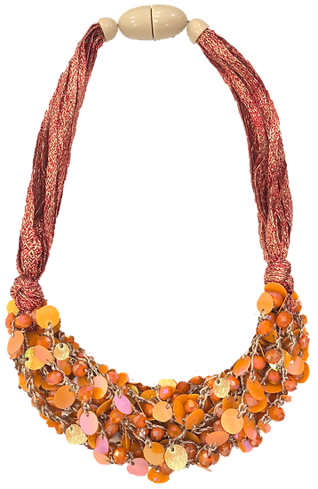 Cluster Necklace Orange