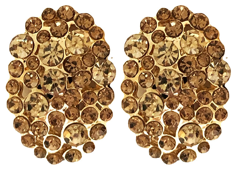 Oval Clip On Earring Gold
