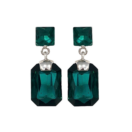 Cubism Earring Green