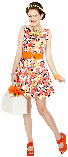 Rose Dress Orange