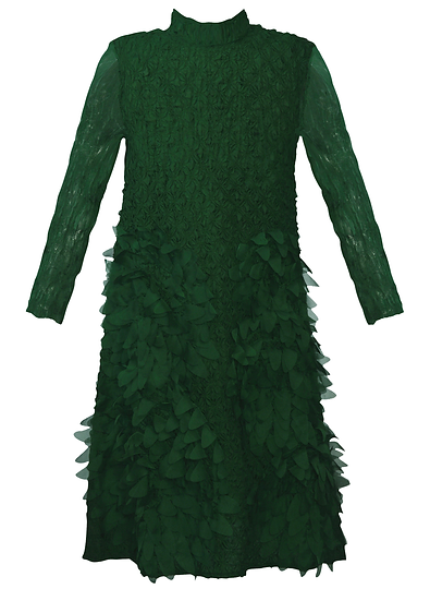Feather Dress Green