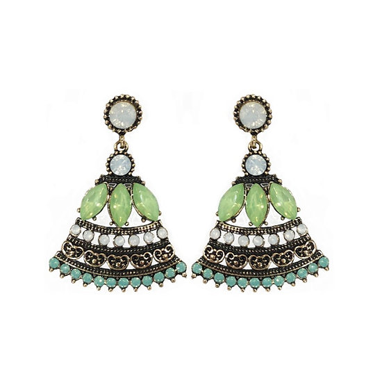 Windsor Bell Earrings Green