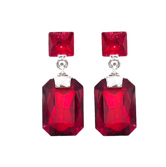 Cubism Earring Red