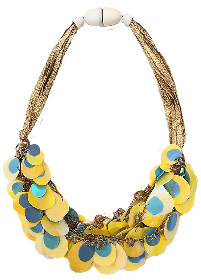 Circles Necklace Yellow