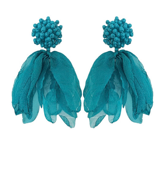 Isadora Earrings Teal