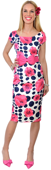 Cindy Fitted Dress Pink