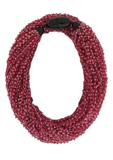 Soft Multi Strand Necklace Red