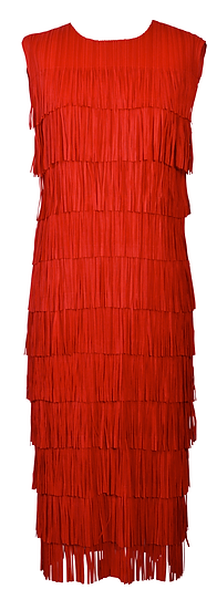 Fringe Dress Red