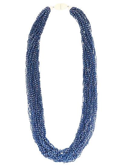 Soft Multi Strand Necklace Blue