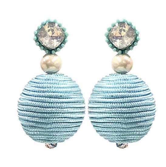Bobble Earrings Blue