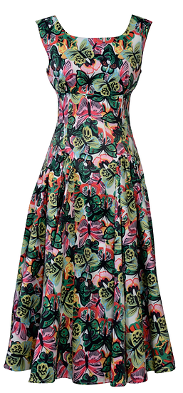 Diana Panel Dress Green